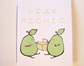 "comic zine / chapbook / storybook about pears - ""Pear Picnic"""