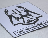 You Are My Father - Darth Vader Star Wars - Father's Day Card/Birthday Card