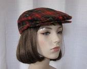 Vintage Plaid Newsie Hat