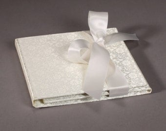 Double Disc - Ivory Brocade Custom CD / DVD Case - Customization Available