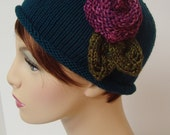 Fun and Flirty Wool Flower Cap
