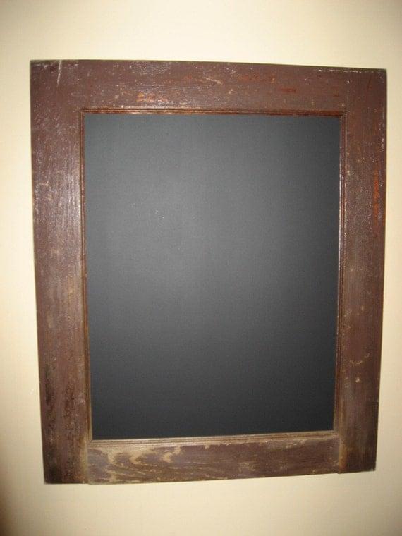 Antigue Door Chalkboard : Old antique door frame chalkboard
