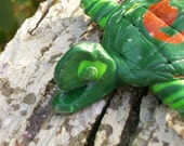 Polymer Clay Happy Turtle Christmas Ornament