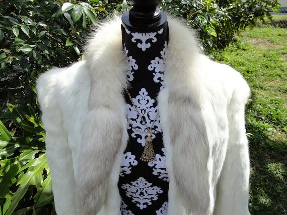 RESERVED for cscapri0110 Vintage Womens White Rabbit Fur Coat