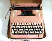 RESERVED pink typewriter--smith corona super silent
