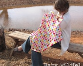 Nursing Cover Up Extra Large Breastfeeding Cover Rainbow Flowers Dots Pink Green Yellow Blue - Poppy Dots