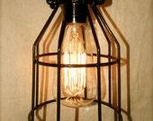 Vintage Style Industrial Cage Lights, Minimalist Steampunk