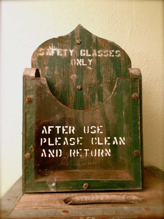 Upcycled Vintage Factory Storage Bin - Industrial
