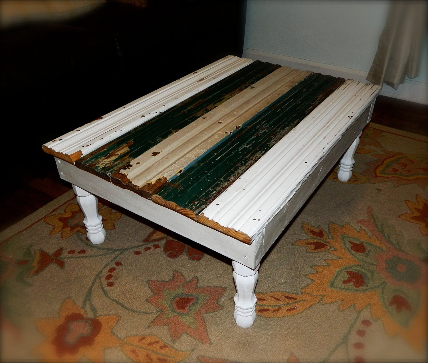 shabby chic cottage style coffee table made from reclaimed. Black Bedroom Furniture Sets. Home Design Ideas