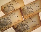 Place Cards -Dandelion Wishes - Vintage Appearance - set of 30