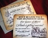 Alice in Wonderland Invitations for Wedding Bridal Shower/Baby Shower/Birthday - Vintage Appearance -  Set of 25