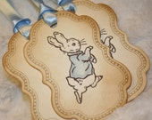 Peter Rabbit Tags -Baby shower tags - set of 20