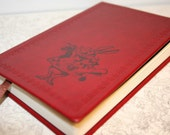 White Rabbit From Alice in Wonderland Altered Journal/Notebook/Diary - Red Leather Appearance