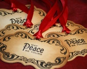 Christmas Tags Christmas Gift Tags - May Peace Be Yours Tags Vintage Appearance - Set of 5