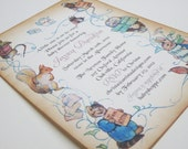 Baby Shower Invitation - Peter Rabbit - vintage appearance - 5x7-set of 40