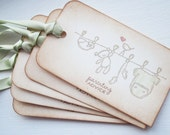 Baby Shower Wish Tags/Baby shower favor tags - set of 5