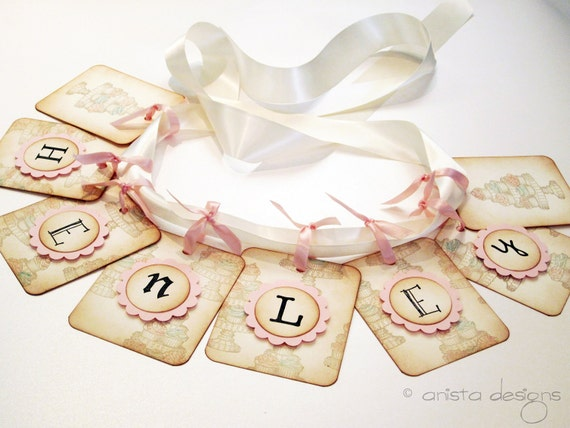 Cupcake/Sugar and Spice Birthday Banner/Garland- Vintage Appearance PERSONALIZE