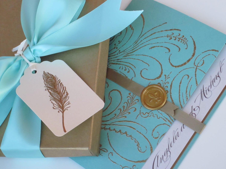 Luxury Wedding Invitations Online: Boxed Luxury Wedding Invitation Marie Antoinette Inspired