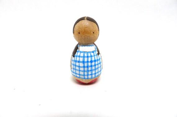 Wooden Peg Doll Tiny Dorothy