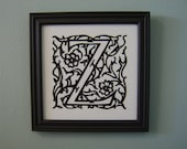 Hand Cut Paper Initial (A - Z available)
