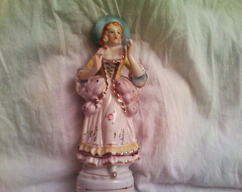 Antique Victorian Red Headed Lady Figurine