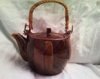 Earthtones Earthenware Tea Pot Marked Down From 30 Dollars to 20 Dollars SALE Price Reduced