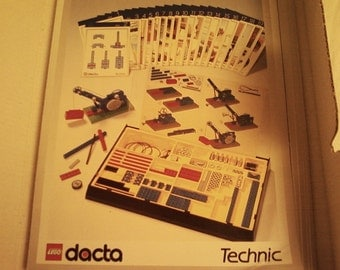 PRICE Slashed in Half  Down to 25 Dollars Now. Rare 1980's Lego Dacta Technic Cards in Original Box