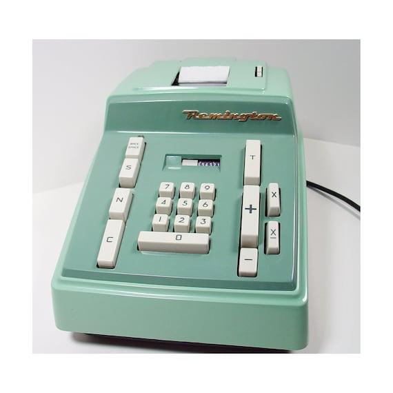 Electric Adding Machine - Mid Century Modern - Mint Green Remington Rand