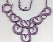 ROMANCE- Lilac and Pearls Beaded Necklace