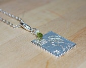 Stamp Collectors Necklace-Green