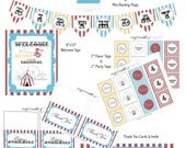 "PRINTABLE (FULL COLLECTION) - ""Old Time"" Carnival Collection- Vintage Design"