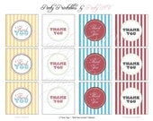 "PRINTABLE (2"" FAVOR TAGS) - ""Old Time"" Carnival Collection- Vintage Design"