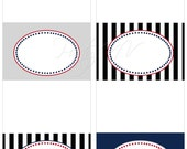 Printable Blank Table Tents - It's Official Collection - PATRIOTS Super Bowl 2012