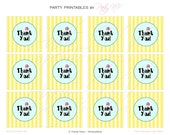 "PRINTABLE (2"" Favor Tags) - SpongeBob ""Best Day Ever"" Collection"