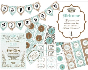 """PRINTABLE (FULL COLLECTION) - """"Royaly Sweet Prince"""" Collection - Vintage, Old World Design"""