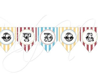 "PRINTABLE (""Hotdogs"" BANNER) - ""Old Time"" Carnival Collection- Vintage Design"
