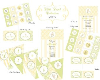 """PRINTABLE (FULL COLLECTION) - """"Little Lamb"""" Collection- Vintage Design"""