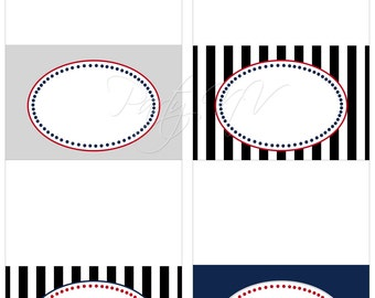 Printable Blank Table Tents - It's Official Collection - PATRIOTS Football
