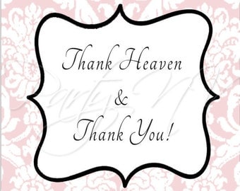 "PRINTABLE (2"" Favor Tags) - Thank Heaven for Little Girls Collection"