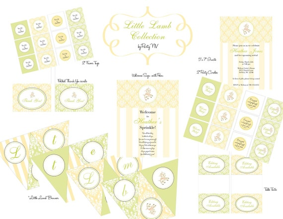 "PRINTABLE (FULL COLLECTION) - ""Little Lamb"" Collection- Vintage Design"