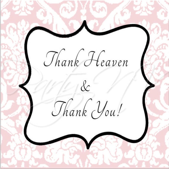 """PRINTABLE (2"""" Favor Tags) - Thank Heaven for Little Girls Collection"""