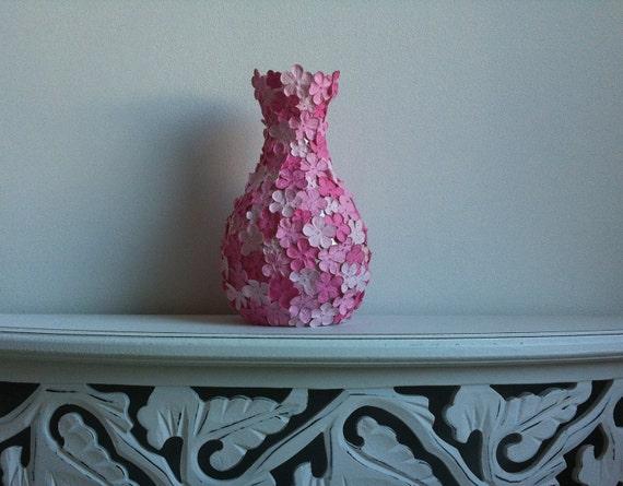 Pink 3D - One Vase - Pink Magenta Flowers