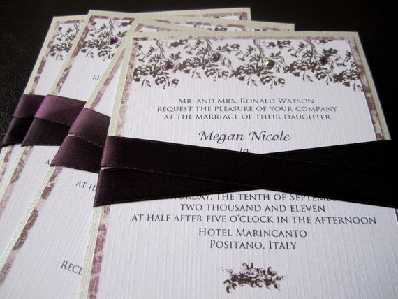 Tuscan Themed Wedding Invitations: Wedding Invitations Vintage Italian Inspired With