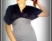 Dress with drape