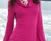 beautiful pink dress with long sleeves - NewstyleNataly