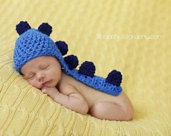 Newborn Dino hat, crochet newborn hat, crochet baby hat,crochet newborn prop, crochet newborn boy hat
