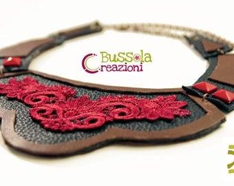 leather necklace Romantic rock