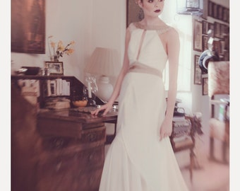 Clara 1920's Inspired Bridal Gown