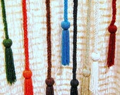 Glass Beaded Belts,Necklaces,Lariats or Curtain Tie Backs with Tassels-Lot of 6