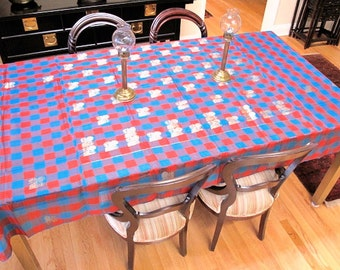 Silk Tablecloth from Recycled Brocade Sari, Saree by the Old Silk Route